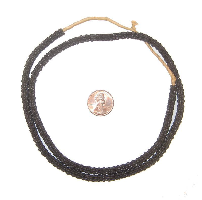 Black Star Snake Beads (Long Strand) - The Bead Chest