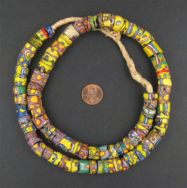 Sliced Antique Venetian Millefiori African Trade Beads