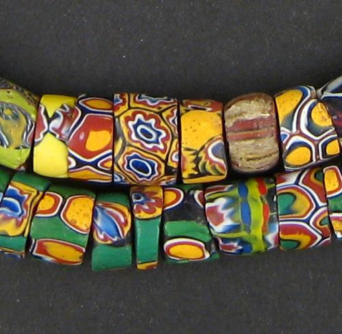 Sliced Antique Venetian Millefiori African Trade Beads - The Bead Chest