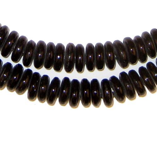 Black Glass Disk Beads - The Bead Chest