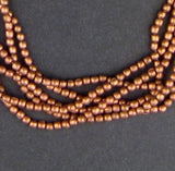 Copper Metal Tiny Melon Beads