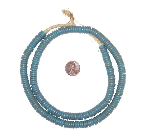 Light Blue Sliced Prosser Beads