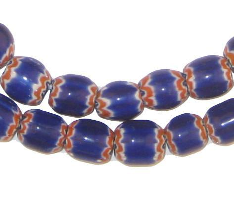 Blue Chevron Beads - The Bead Chest