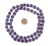 Blue Chevron Beads