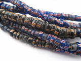 Antique Glass Ghana Chevron Beads (3 Strands) - The Bead Chest