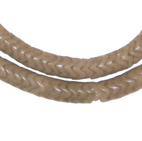 Grey Glass Snake Beads (Large) - The Bead Chest