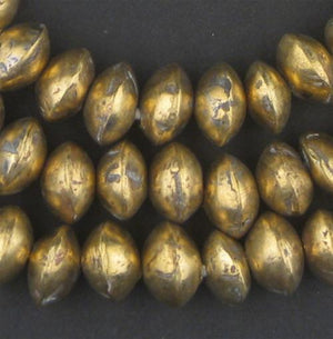 Mali Brass Bicone Beads (7x11mm) - The Bead Chest