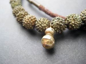 AWAITING REVIEW: Antique Yoruba Brass Bead Necklace - The Bead Chest