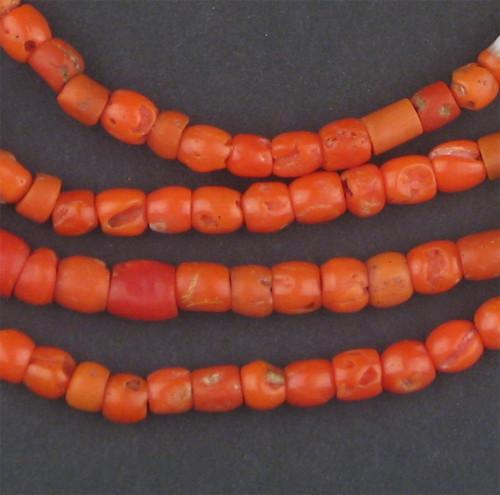 Authentic Mediterranean Coral Beads (Long Strand) - The Bead Chest