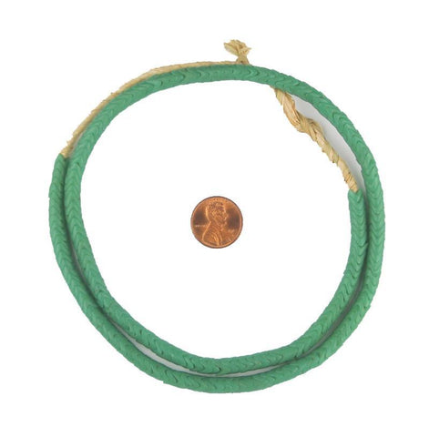 Glass Snake Beads, Sea Green Color (Small) - The Bead Chest