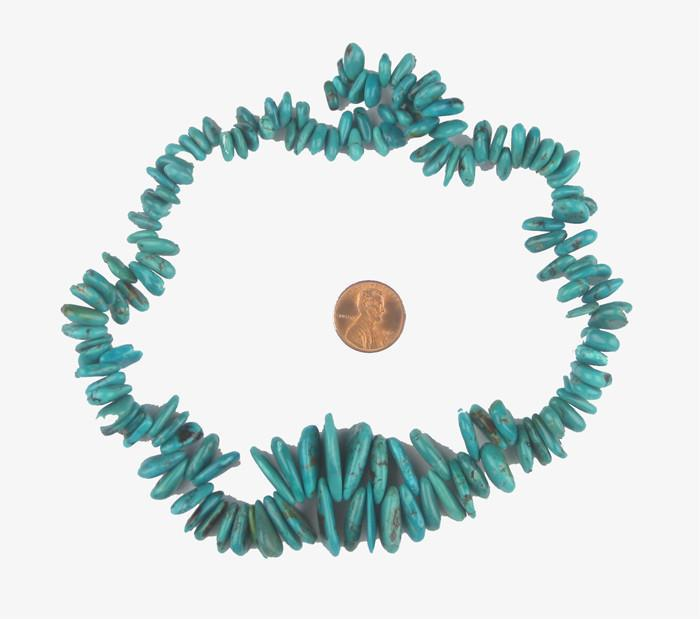 Turquoise Beads (Flat Tear Drop Shape) - The Bead Chest