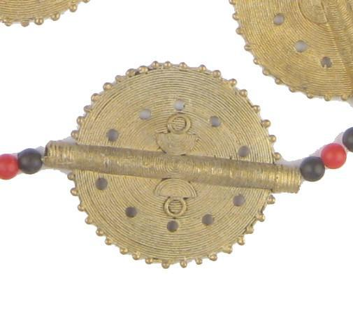 Fancy Sun Design Baule Brass Beads (46mm) - The Bead Chest