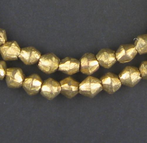 Cameroon Brass Bicone Beads (8x8mm) - The Bead Chest