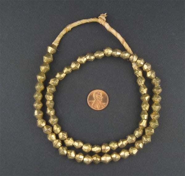 Cameroon Brass Bicone Beads (8x8mm)