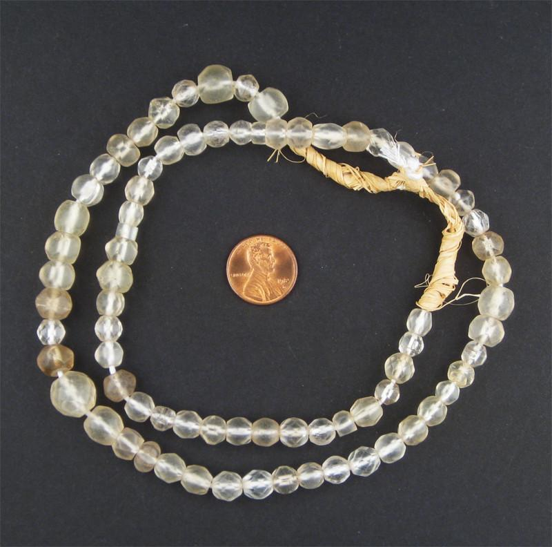 Old Abyssinian Glass Crystal Beads (Faceted) - The Bead Chest
