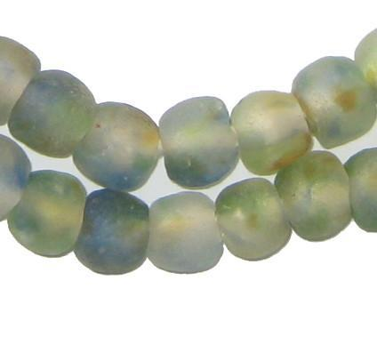 Earth Swirl Recycled Glass Beads (11mm) - The Bead Chest