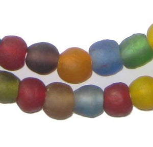 Premium Mixed Recycled Glass Beads (11mm) - The Bead Chest