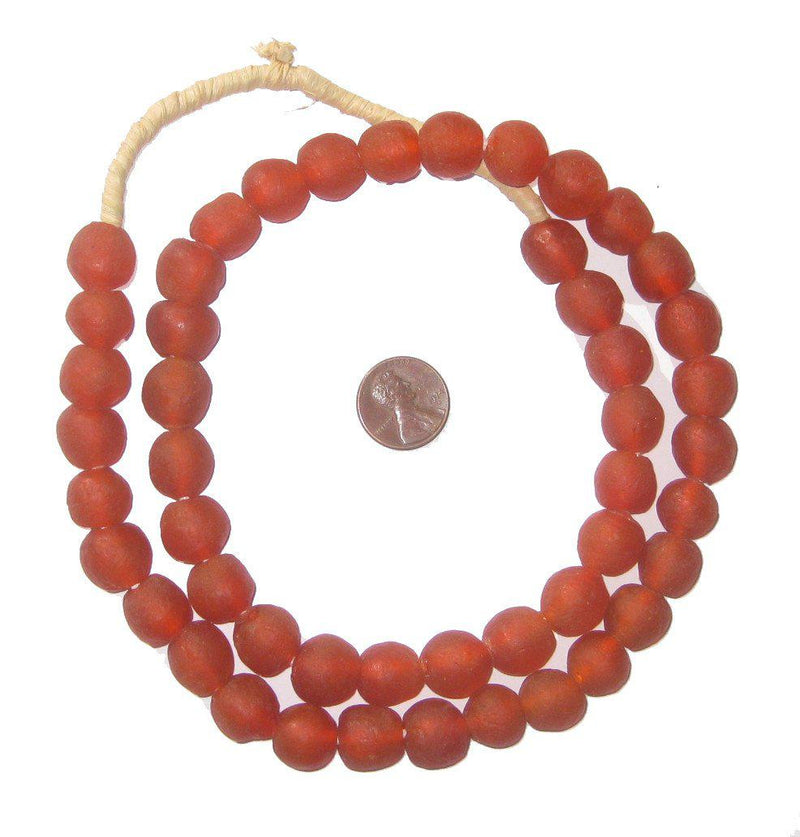 Red Recycled Glass Beads (14mm) - The Bead Chest