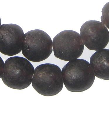 Deep Purple Recycled Glass Beads (18mm) - The Bead Chest