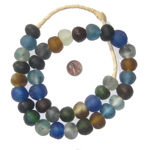 Image of Multicolor Recycled Glass Beads (18mm) - The Bead Chest