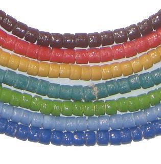 Variety Bundle - Wholesale Sandcast Powder Glass Beads (7 Strands) - The Bead Chest