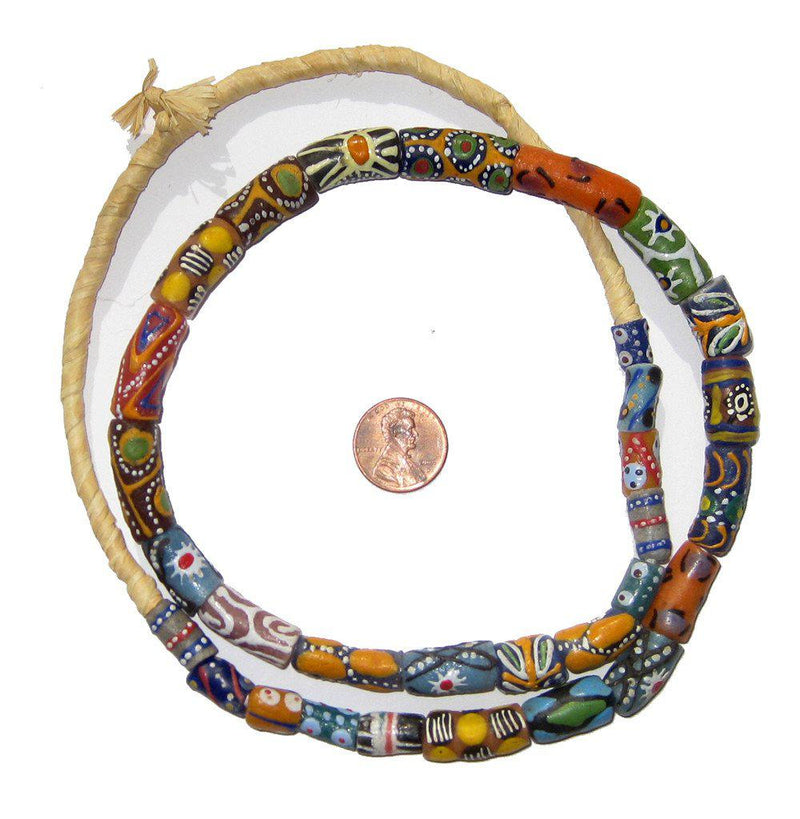 Fancy Mixed Krobo Powder Glass Beads - The Bead Chest