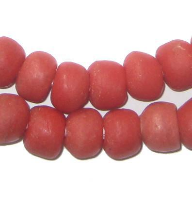 Coral Red Sandcast Beads - The Bead Chest