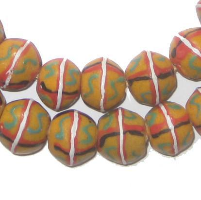 Yellow King Trade Beads - The Bead Chest