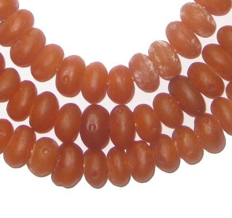 River Amber Natural Seed Beads from Kenya (Rondelle) - The Bead Chest