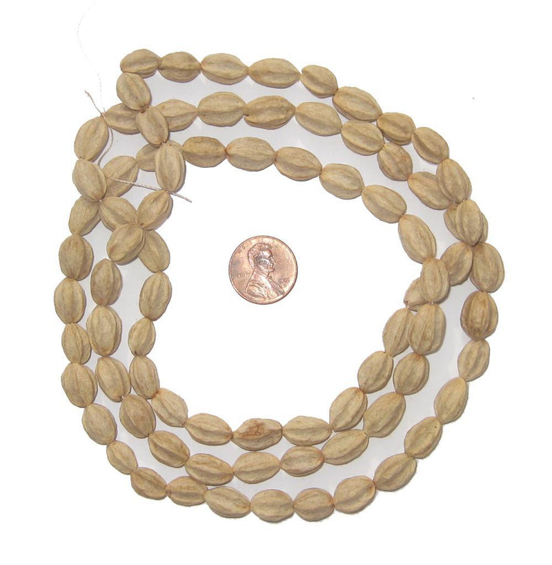 Marbiney Natural Seed Beads from Kenya - The Bead Chest