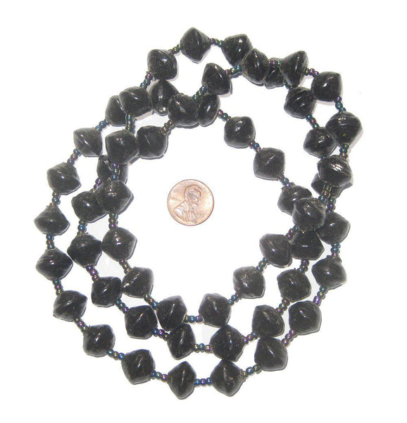 Black Recycled Paper Beads from Uganda