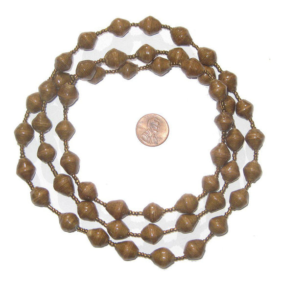 Brown Recycled Paper Beads from Uganda
