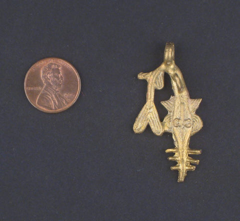 Image of Swordfish Brass Pendant from Africa - The Bead Chest