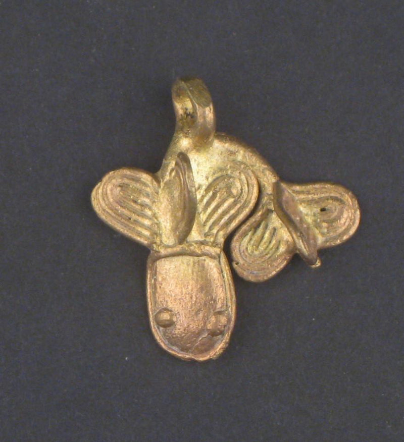 Mudfish Brass Pendant from Africa - The Bead Chest