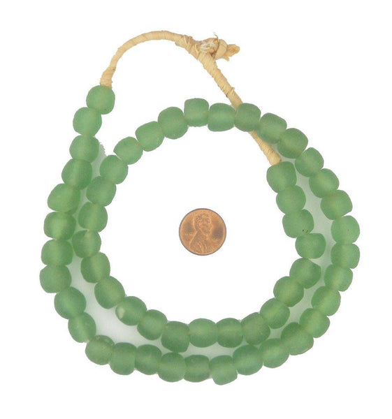 Light Green Recycled Glass Beads (11mm)