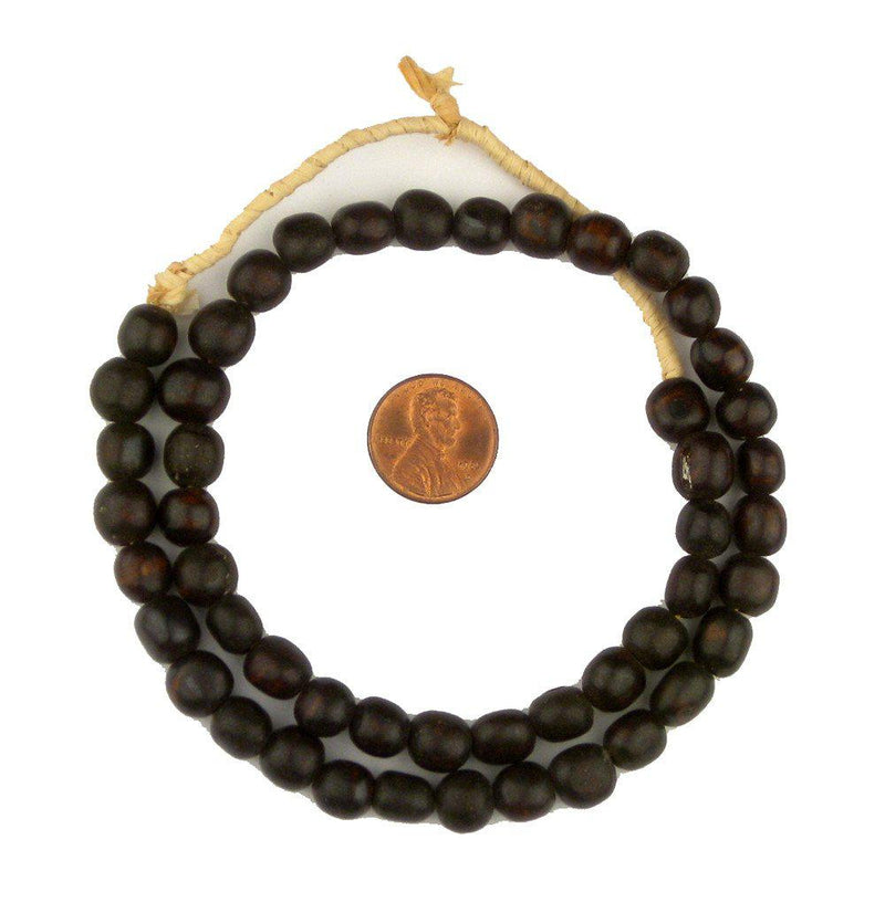 Dark Brown Kenya Bone Beads (Round) - The Bead Chest
