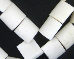 White Kenya Bone Beads (Flags) - The Bead Chest