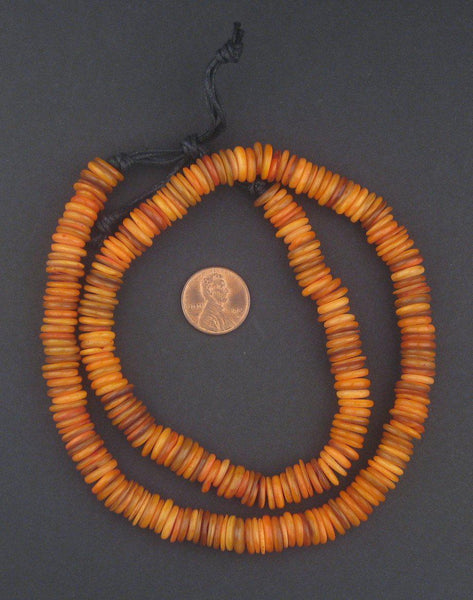Amber Moroccan Heishi Shell Beads - The Bead Chest