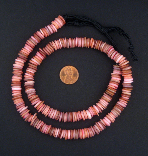 Rose Moroccan Heishi Shell Beads