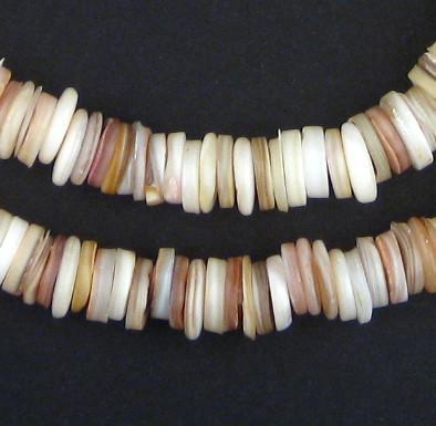 Ivory Moroccan Heishi Shell Beads - The Bead Chest
