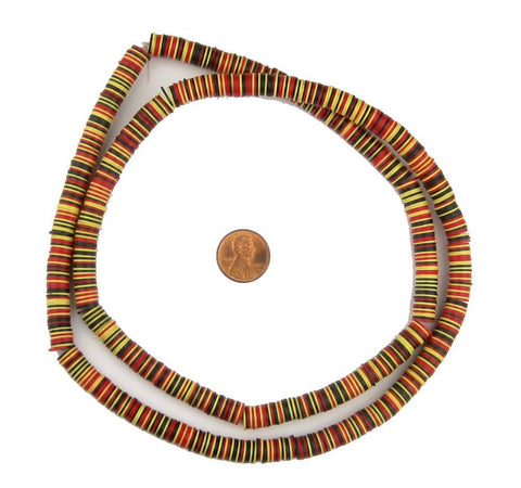 Ghana Medley Vinyl Phono Record Beads (8mm) - The Bead Chest