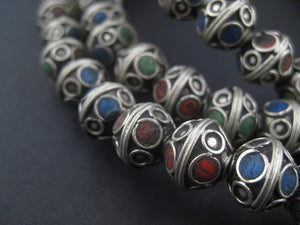 Tri-color Enamel Berber Bicone Beads (Set of 10) - The Bead Chest