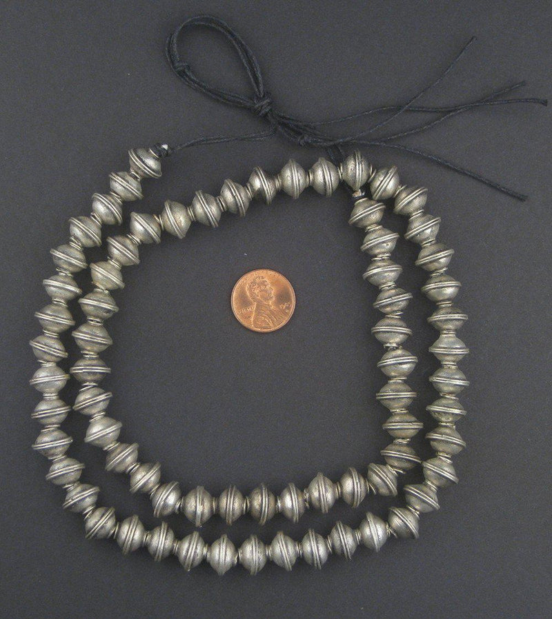 Berber Silver Bicone Beads (9x12mm) - The Bead Chest
