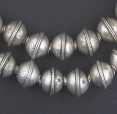 Berber Silver Bicone Beads (12x14mm) - The Bead Chest
