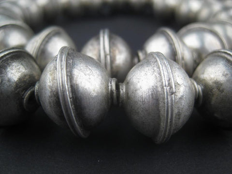 Berber Silver Bicone Beads (15x17mm) - The Bead Chest