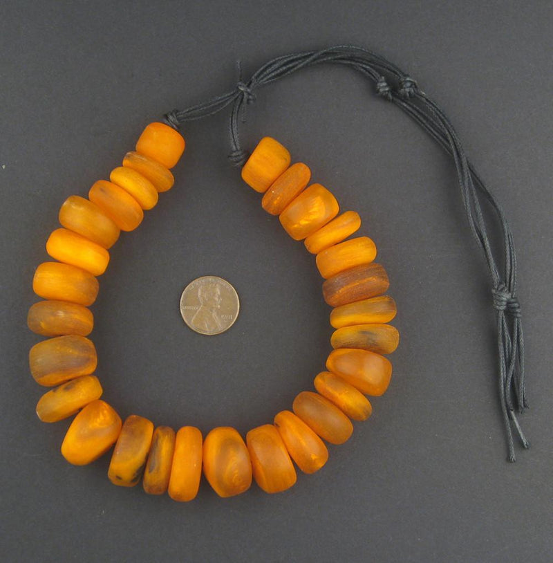 Amber Color Moroccan Horn Beads - The Bead Chest