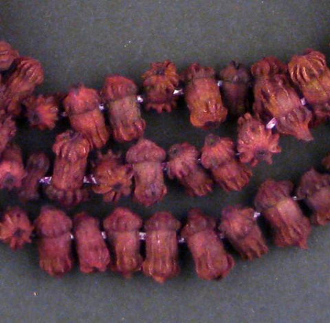 Purple Clove-Shaped Moroccan Eucalyptus Beads - The Bead Chest