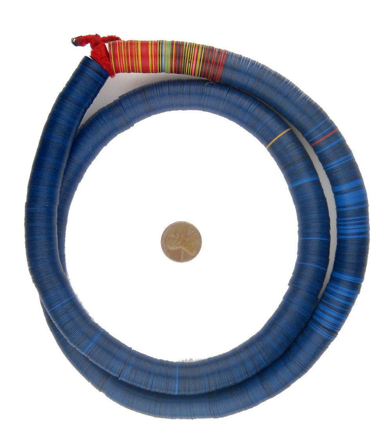 Vintage Deep Blue Vinyl Phono Record Beads (14mm) - The Bead Chest