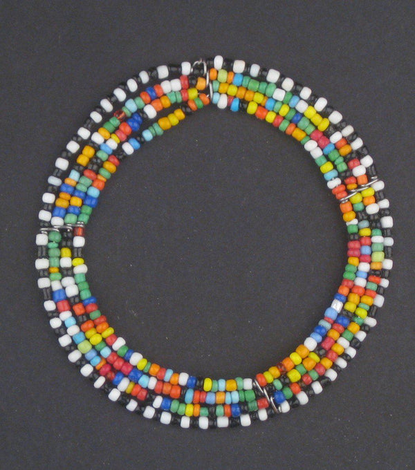 Rainbow Ring Maasai Beaded Pendant - The Bead Chest