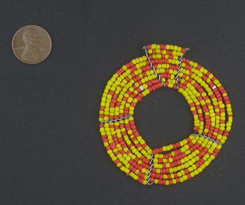 Image of African Sun Maasai Beaded Pendant - The Bead Chest